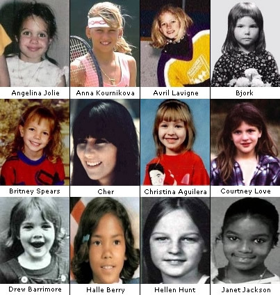 Celebs when they were kids.. [via Elflameboy]