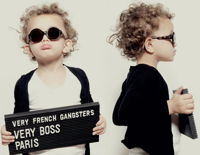Very French Gangsters is nice with the kids eyewear.