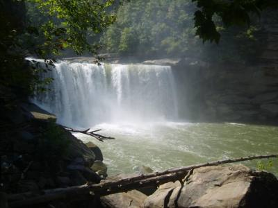 { Cumberland Falls, Kentucky, summer of 2010. }