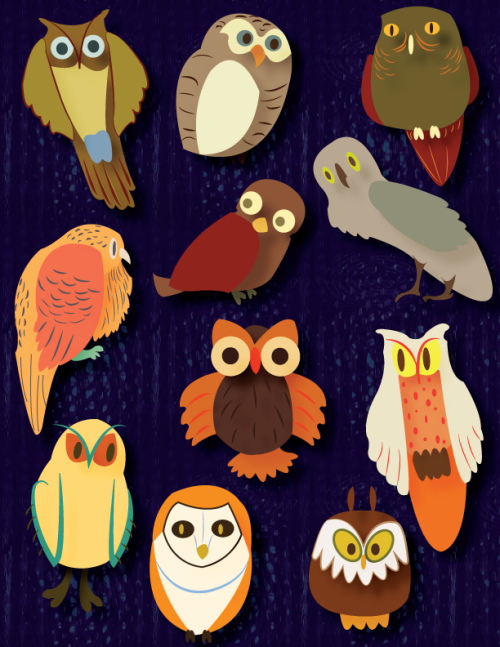 Owls. This is number 8 (finally) in the series, so I am going to take a break from doing them add a section of my website for them and work on other things at least for a bit.