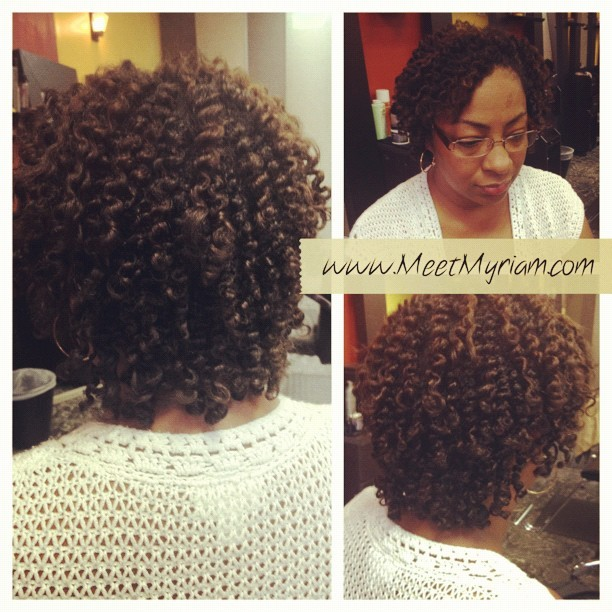 Twist Out!❤❤❤ to elongate your curls for a little bit #meetmyriam #naturalhair  (Taken with Instagram)