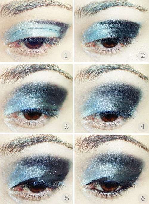 How to/Ice Blue Smoky Eye