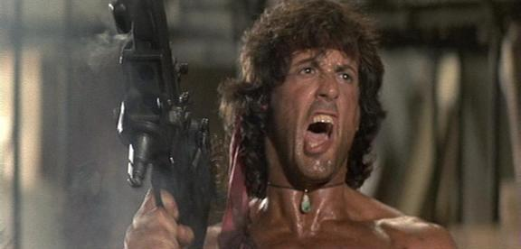 """AAAAAAAUGH!"" Sylvester Stallone in RAMBO: FIRST BLOOD PART II (1985, dir. George P. Cosmatos)"