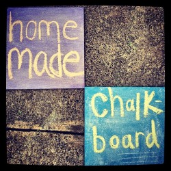 Home-Made Chalk Boards! #crafty (Taken with Instagram)