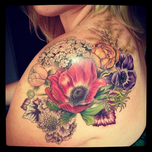 Floral shoulder  (Taken with Instagram)