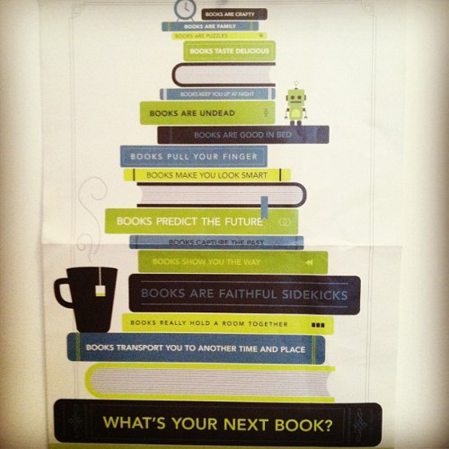 thelifeguardlibrarian:  Quirk Books poster from ALA12 (Taken with Instagram)