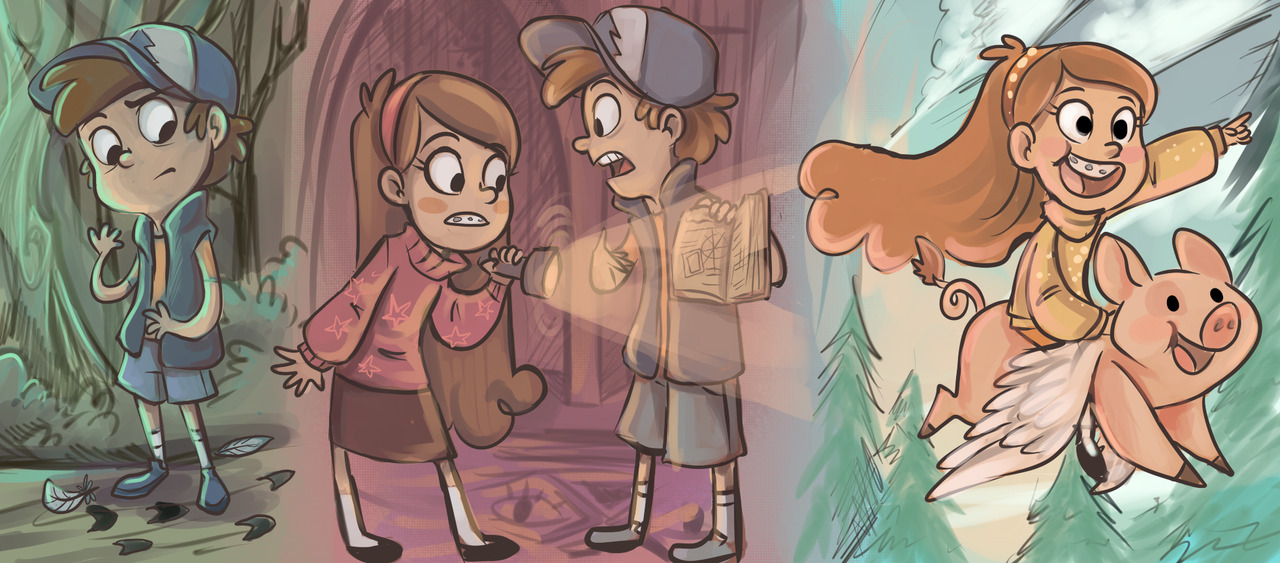 Some Gravity Falls stuff.  Sorry they're kind of random.  So far, I am loving the show! http://sharpie91.deviantart.com/art/Gravity-Falls-313455115