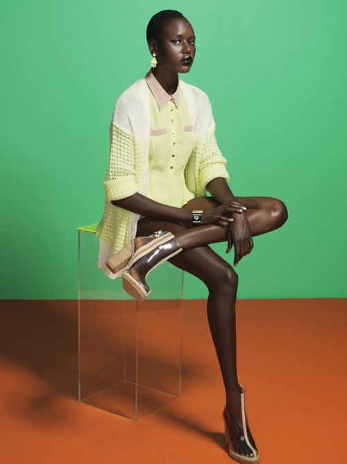 Ajak Deng for Nasty Gal photographed by Paul Trapani. More photos here… (via The Brisk Convergence & Vintage Virgin)