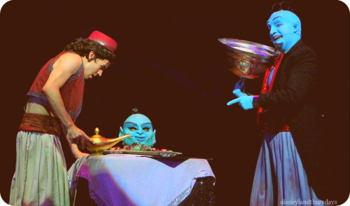 """can your friends do this?"" Aladdin:A Musical Spectacular An amazing show that we love to catch every chance we get!"
