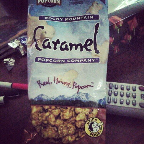 The best mother flooping caramel popcorn in the whole Rocky Mountain region (to me!)