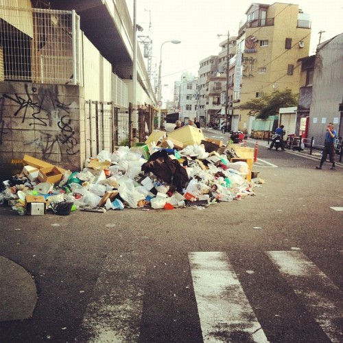 To everyone that said Japan is clean (Taken with Instagram)