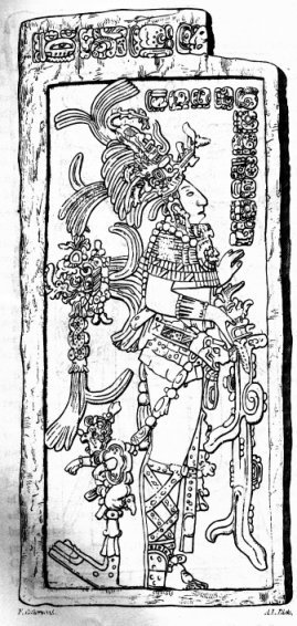 collective-history:  K'inich Kan B'alam II, the Classic period ruler of Palenque, as depicted on a stela.