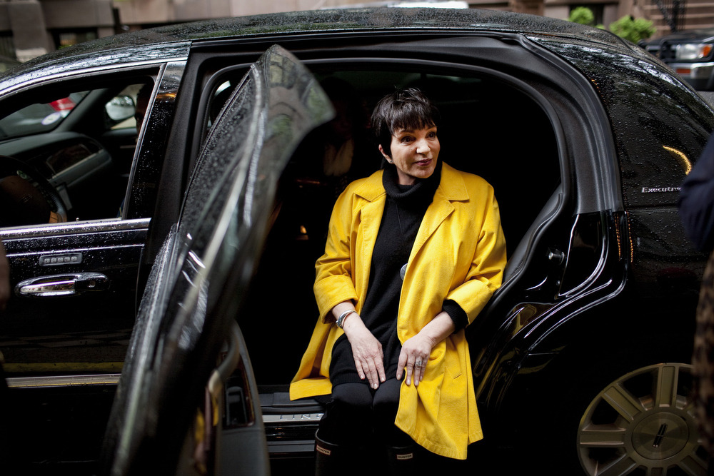 Liza Minnelli poses for a portrait outside an NYC hotel, May 2012. © Natalie Keyssar