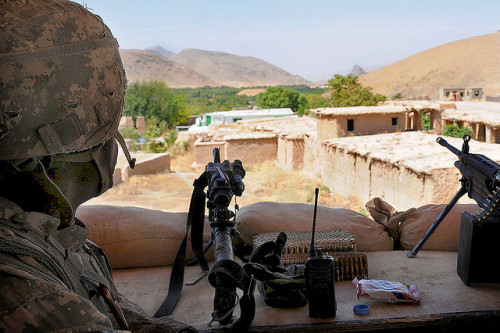 militaryandweapons:  Manning the guard tower at Forward Operating Base Mizan   by The U.S. Army on Flickr.