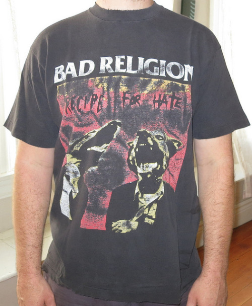 Day #363 Bad Religion - Recipe For Hate North American Tour 1993 Color: Black Brand: Fruit Of The Loom Source:  Keeping it brief today all my time is being sucked up trying to do a project for the 365th post.  so hold tight i hope its worth it.