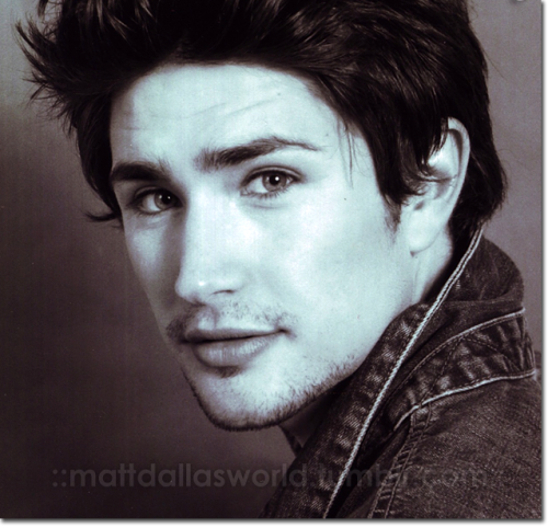 Memory Lane: a very early Matt Dallas headshot (cropped).  MDW main site . Twitter . Facebook Page . YouTube Channel . Pinterest