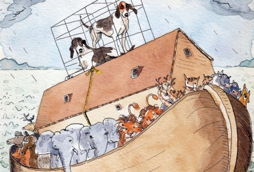 vanityfair:  Sketchbook | Romney's Ark Illustration by Barry Blitt  Reblogging ark humor.