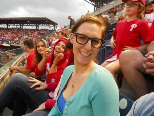 Wearing blue to a Phillies' game, yep that's me ;)