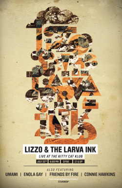 ericgorvin:  Lizzo & The Larva Ink - July 20th at KCK!