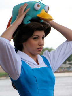 briannacherrygarcia:  Belle has Perry the Platypus on her head. Your argument in invalid.