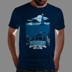 "qwertee:  ""Somewhere Beyond the Sea"" is today's tee on www.Qwertee.com Get this great design now for the super price of £8/€10/$12 for 24 hours only. Be sure to ""Like"" this for 1 chance at a FREE TEE this weekend, ""Reblog"" it for 2 chances and ""Follow"" us for a 3rd chance (if you're not already:) Thanks Guys!"