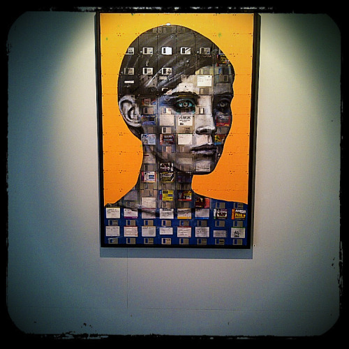 Stumbled on this gem this weekend. Nick Gentry painting on floppy disks. Good to see old technology has found new use!