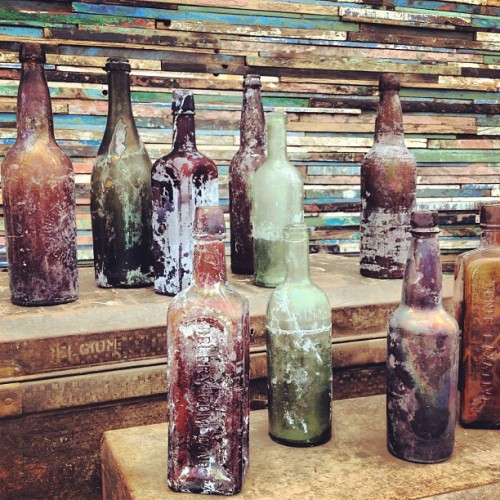 Bottles. Reclaimed Wood (Taken with Instagram)