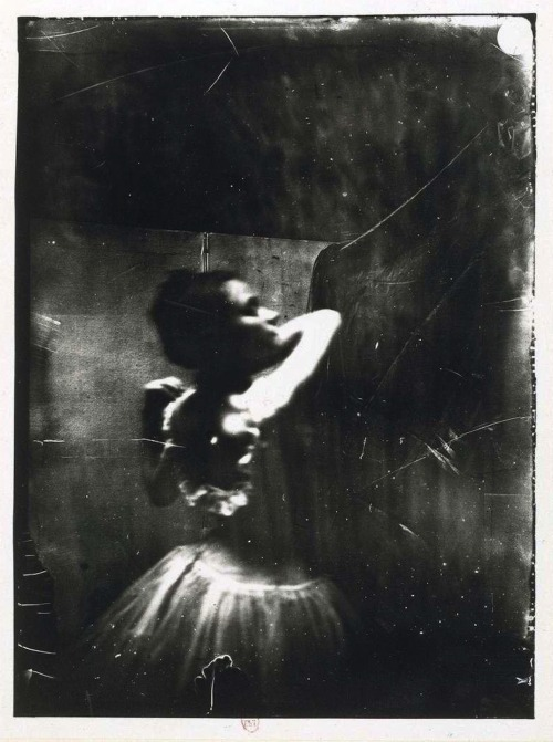 musicbabes:  Edgar Degas - Dancer adjusting her shoulder strap, ca. 1900.
