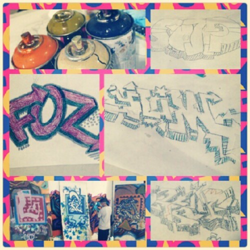 #SaturdaySchool / Tryin' to get down w/the #DiGiRoCK. #Graffiti Wkshp @ #602Cyphers. @durokism @ser_v1 #hiphop #hiphopculture #urbanart (Taken with Instagram)