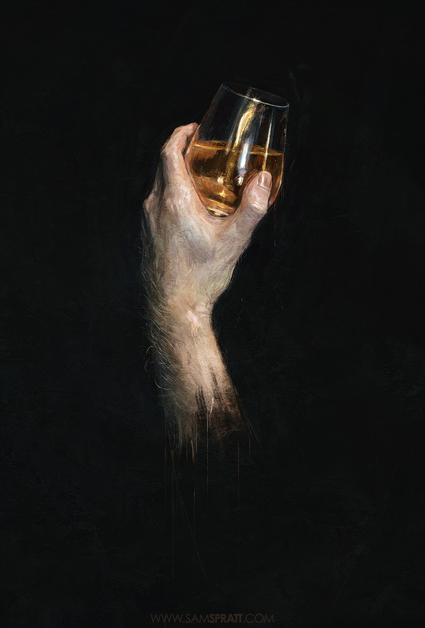 """A Study In Scotch"" - by Sam Spratt Finished messing around… for now…"