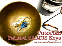 whocrafts:  Click through to find out how to make your own painted TARDIS keys!