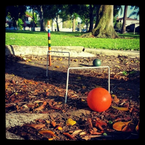 Croquet on a Sunday afternoon  (Taken with Instagram at Dr Paul Carlson Memorial Park)