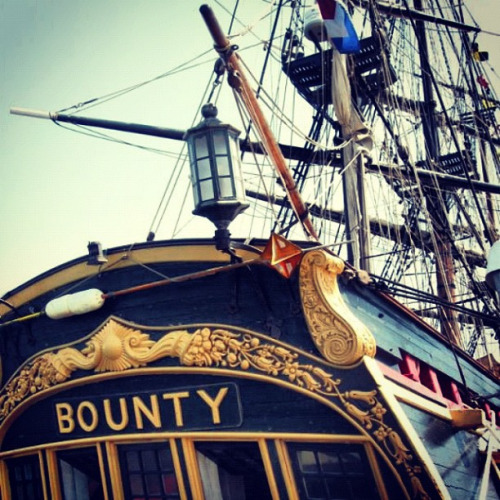 HMS Bounty at Ocean State Tall Ships in Newport, Rhode Island.