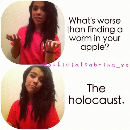"The best part of the second one is yelling ""the holocaust"" in the middle of their guess and seeing their faces afterwards"