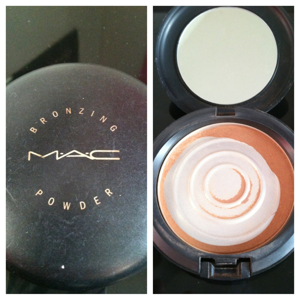 Hitting major pan on my MAC Bronzer.