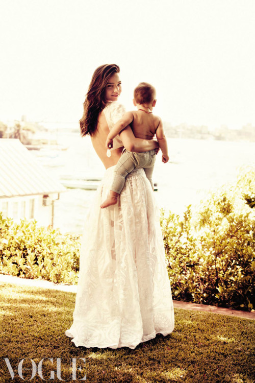 Miranda Kerr and her son, Flynn, enjoy the view at Point Piper in Sydney. See more stunning photos here.  Image by Will Davidson