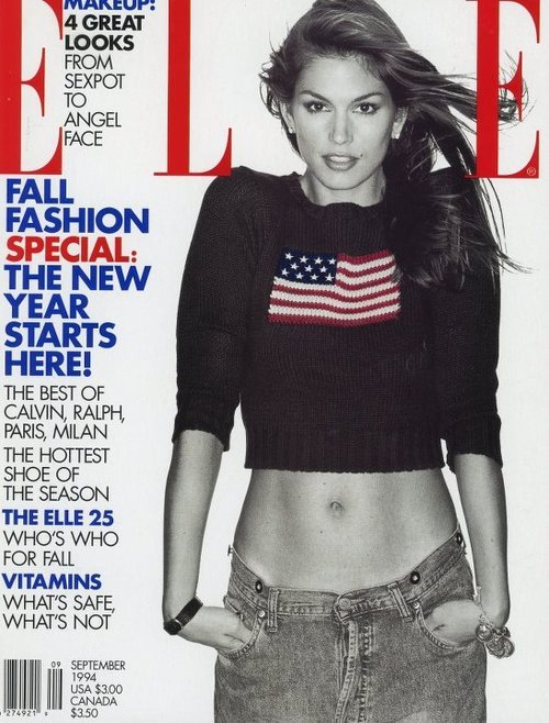 90s models > nowadays models. [Cindy Crawford](http://theskatorialist.tumblr.com/tagged/Cindy-Crawford for Elle US, September 1994.
