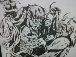 Kaiju monster madness! Heres a preview of one of the new commissions im working on for the mighty KUNG FU GRIP