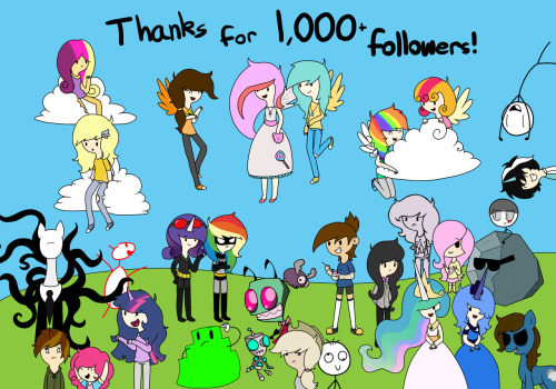asktheadventureponies:  Thanks for 1,000 followers, I really, really, truly appreciate every one of you guys. ; w; Wordless version in case you wanna use it for something. someone wanted a list of who's featured so here http://askthosesillystickmen.tumblr.com/ http://raindropsanswers.tumblr.com/ http://askforgottenoctavia.tumblr.com/ http://thebronyanswers.tumblr.com/ http://ask-paranoid-twilight.tumblr.com/ http://ask-pegasus-lola.tumblr.com/ http://theoneandonlyjelly.tumblr.com/ http://slendypony.tumblr.com/ http://ask-static-wave.tumblr.com/ http://ask-moondust.tumblr.com/ http://ask-dumbstick.tumblr.com/ http://batmareandrobinaloo.tumblr.com/ http://askthegothamvillesirens.tumblr.com/ http://askmylittlechibis.tumblr.com/ http://princess-cadence-answers.tumblr.com/ http://ask-zimeh.tumblr.com/ http://askminimoose.tumblr.com/ http://ask-notepad-pony.tumblr.com/ http://ask-humanderpy.tumblr.com/ http://ask-doodlepony.tumblr.com/ http://asksugar-swirl.tumblr.com/ http://asklyingapplejack.tumblr.com/ http://askthesquishyponies.tumblr.com/ http://askgigglesthepony.tumblr.com/ http://askthediscordedponies.tumblr.com/ http://bloombergandtomreply.tumblr.com/ and my ponysona Night Crawler, and Celestia and Luna!    OOC: Congrats on the 1000! There's still WAY more to come!