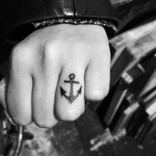 I got an anchor tattoo on a rainy night… two days later i meet a boy who lives on a boat and the pieces fell into place  NYC tattoo by: Paul Cooley @sapsation #andreamessiercuomo #andreacuomo