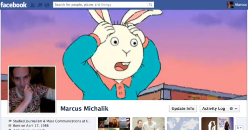 All I've done today is laugh at my Facebook cover photo.