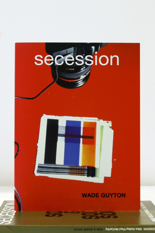 "Wade Guyton This catalog is published in conjunction with the exhibition ""Wade Guyton. Drawings for a Small Room/Zeichnungen fur ein Kleines Zimmer"" at the Secession, May 27-Aug 21, 2011"" Secession, Wien, AT / Revolver, Berlin, DE, 2011 Edition of 1000 8¼ X 11¾ INCHES (21 x 29¾ CM) $100 PURCHASE"