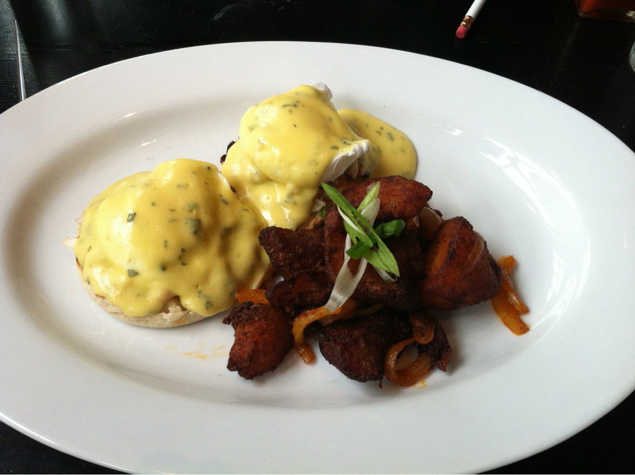 366meals:  Crab Benedict with Breakfast Potatoes, Route 6, Philadelphia, PA