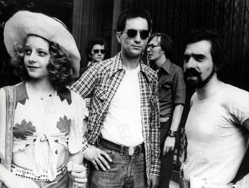 suicideblonde:  Jodie Foster, Robert DeNiro and Martin Scorsese during the filming of Taxi Driver