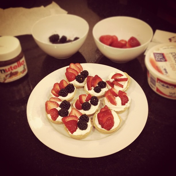 aliceenwonderland:  Fruit tarts aka midnight snaking :D (Taken with Instagram)  MY LIFE. PART 3. no words, really.