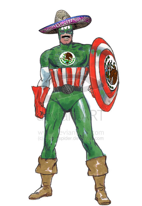 realmofinsanity:  Frutsy got that special skin for Cap.  Mexico was too hype! Shoutouts to Frutsy putting Mexico on this fucking back… errr… wait.