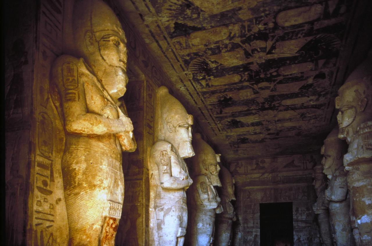 ancientart:  Interior of the Ancient Egyptian Temple of Ramses II, located Abu Simbel, Nubia, Egypt.