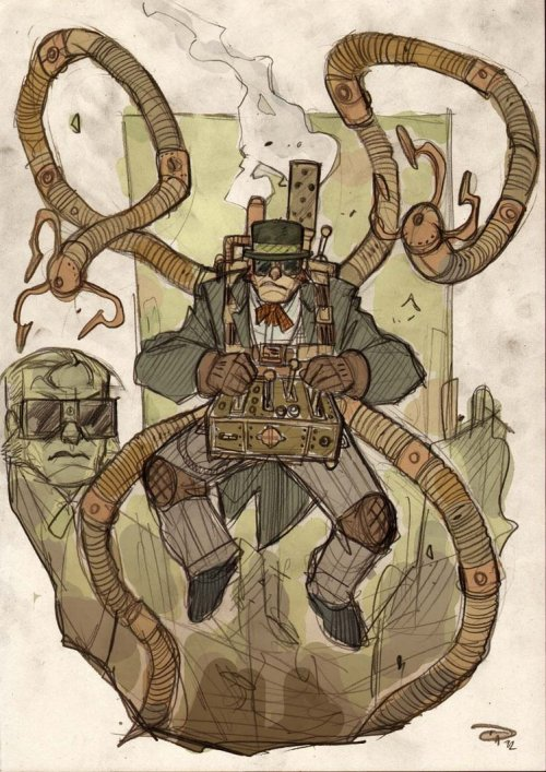 Doctor Octopus Steampunk Re-Design~by Denis Medri