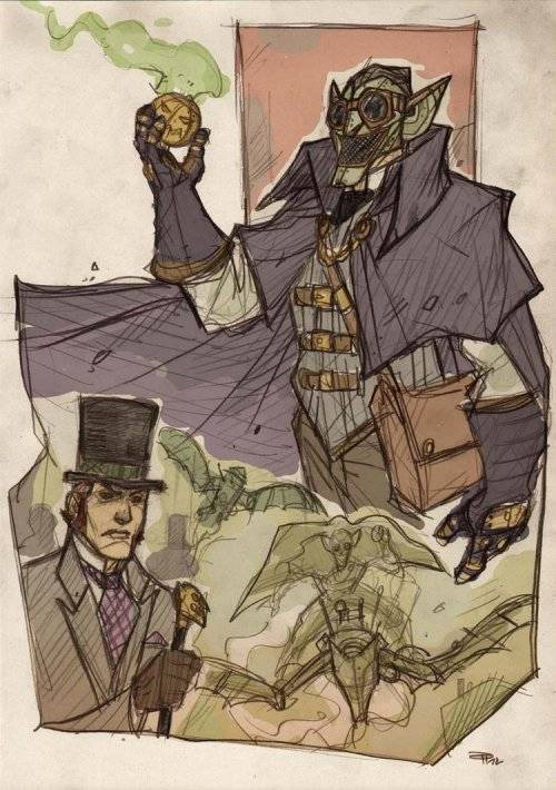 Green Goblin Steampunk Re-Design ~by Denis Medri