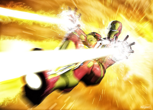 comicsforever:   Iron Man: Fallback! // artwork by Daniel Scott Gabriel (2012)
